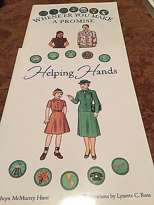 Two Paper Doll Books ;Helping Hands & Whene'er You Make A Promise