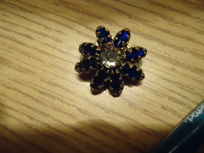 Antique Edwardian VICTORIAN  Pin  Brooch. BLUE STONE