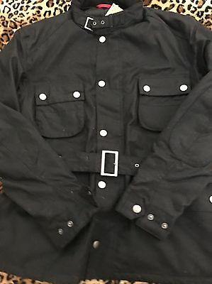 New Barbour Strathdee Black Waxed Jacket /Silver Reflective Belt $ 450