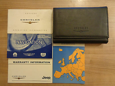 Chrysler Voyager Owners Handbook/Manual and Wallet 04-07