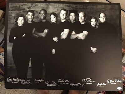 "Star Trek Voyager 19"" By 25"" Signed Cast Lithograph Poster Black And White Auto"