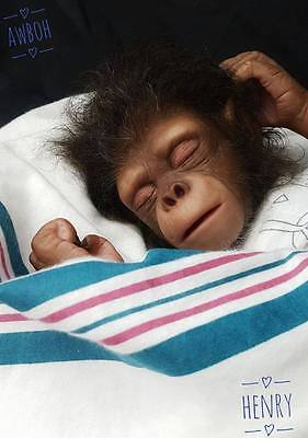 Henry the Chimpanzee by Jade Warner Unpainted Reborn Baby kit Only Monkey