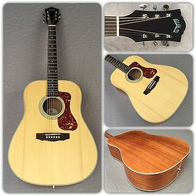Guild Westerly Collection D-240E Acoustic/Electric Guitar In Natural