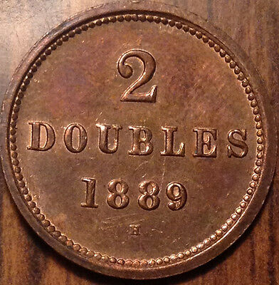 1889H Guernesey 2 Doubles In Superb Hg Condition !!!