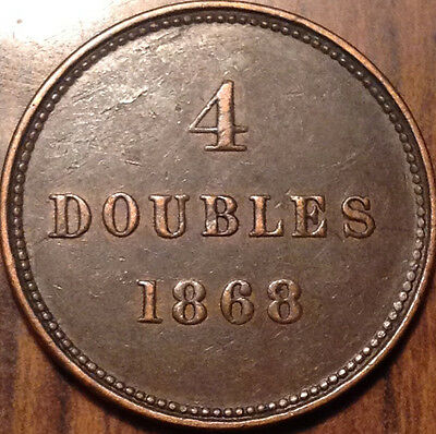 1868 Guernesey 4 Doubles In Superb Hg Condition !!!