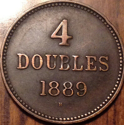 1889H Guernesey 4 Doubles In Superb Hg Condition !!!