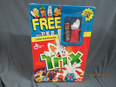 General Mills Trix  Mini Pez Candy Dispenser Cereal Box
