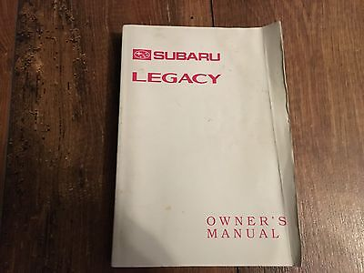 Rare Subaru Legacy Handbook Owners User Manual 1993-1999 Mark 2 * 2.5 1.8 2.0