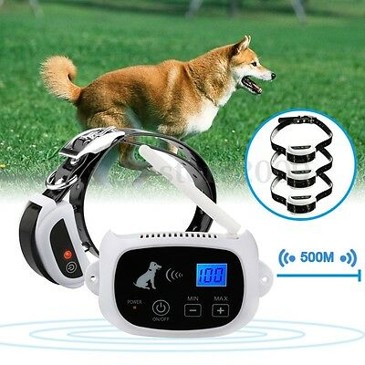 Wireless 1/2/3 Pet Dog Fence Containment System Waterproof Electric Transmitter
