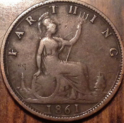 1861 Gb Farthing In Good Condition