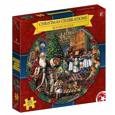 Waddingtons Christmas Round 500 Piece Jigsaw Puzzle 2016 Edition Brand New