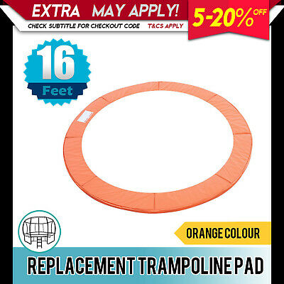 New Replacement Trampoline Pad Round Reinforced Spring Cover 16FT Orange
