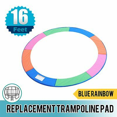 Replacement Trampoline Pad Round Reinforced Safety Spring Cover 16FT Rainbow