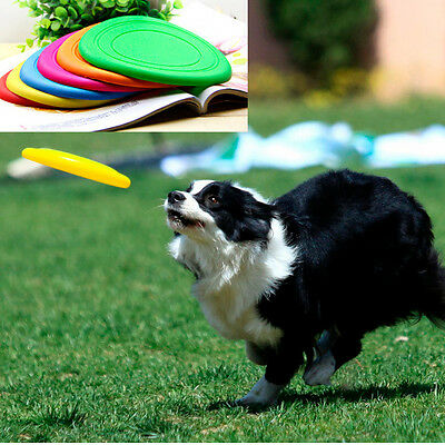 Durable Indestructible Strong Silicone Dog Chew Toy Frisbee Flying Disc Chic