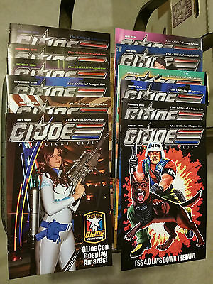 GI JOE COLLECTOR'S CLUB Official Magazine Lot 2016 January-December