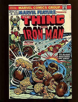 Marvel Feature #12 VGFN Starlin Early Thanos Thing Iron Man Eros Blood Brothers