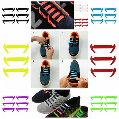 No Tie Shoelaces Elastic Silicone Shoe Laces For Running Trainer Sneakers Sports
