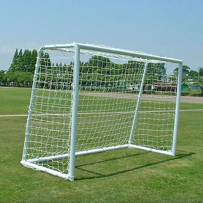 NEW Official FIFA Futsal Soccer Goal Pair 3x2m Stainless Steel (Net Included)