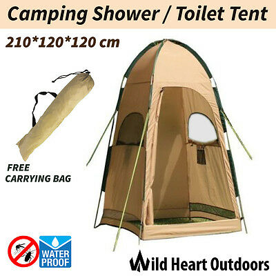 Shower Toilet Tent Outdoor Camping Portable Change Room Shelter Ensuite Zipper