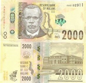 Malawi 2000 2,000 Kwacha 2016 P New Highest Denomination Unc
