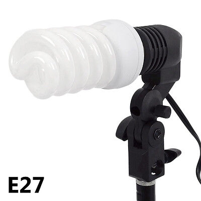 E27 Single Lamp Head Photographic Photo Bulb Holder Studio Video Light EU Plug W