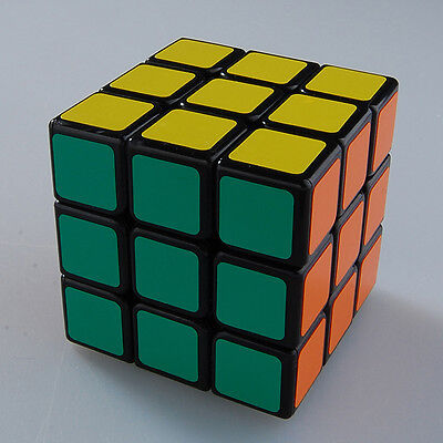 Shengshou 3x3 Speed Cube Magic Puzzle Cube Brain Teaser Game Twist Toy 46MM Blac