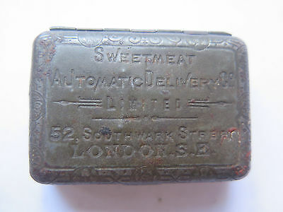 SWEETMEAT AUTOMATIC DELIVERY LONDON BRYANT & MAY WAX VESTAS TIN JAHNCKES c1890s