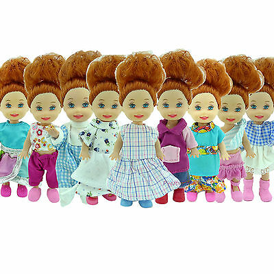 5x Random Daily Wear Dress Outfit Clothes For Kelly Baby Size Doll Pretend Play