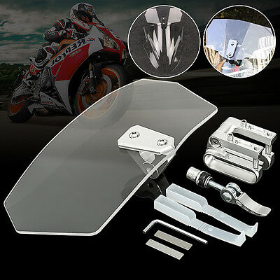 Universal Motorcycle Risen Clear Windshield Wind Screen Protector Sport Bike