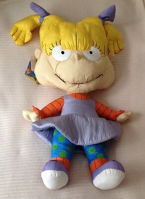 """1998 Viacom Nickelodeon Rugrats Angelica Large Soft 28"""" Toy"""