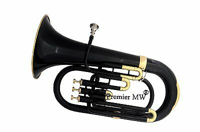 VERY SPECIAL SALE Premier MW PROFESSIONAL BLACK + GOLDEN  Bb EUPHONIUM+ HC+MP