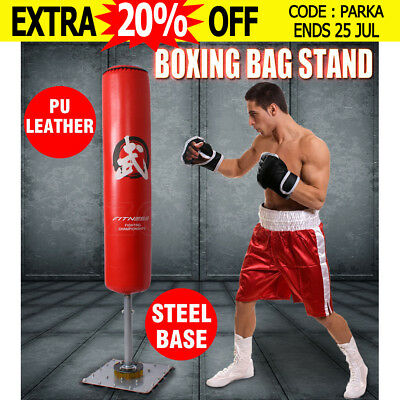 180CM Boxing Bag Stand Free Standing Punching Dummy Target Kick Martial Home Gym