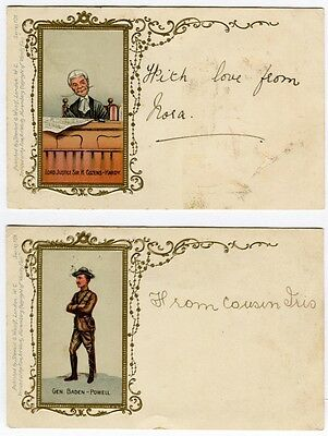 Vanity Fair Caricatures Of Baden Powell Sir Thomas Lipton Mr Choate Cozens-Hardy