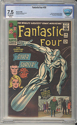 Fantastic Four # 50  Silver Surfer vs Galactus !  CBCS 7.5 scarce book !