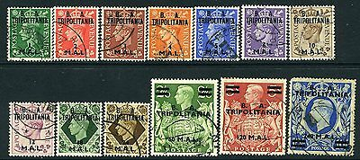 BRITISH OCCUPATION OF ITALIAN COLONIES (TRIPOLITANIA)-1950 Set to 240l on 10/-