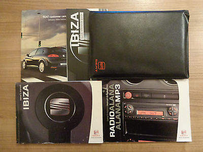 Seat Ibiza Owners Handbook/Manual and Pack 06-08