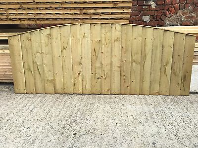 Heavy Duty Arch Top Close Board Tanalised Wooden Garden Fence Panels ~ 6X2 ��