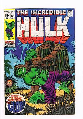 Incredible Hulk # 121  Within the Swamp Stirs the Glob  grade 6.0  scarce book !