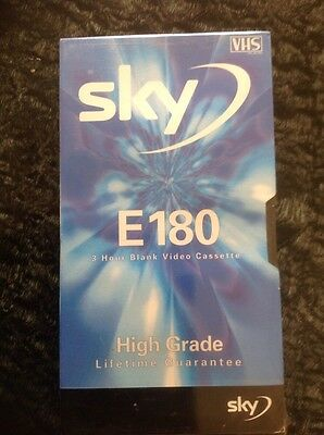 Blank VHS Video Tape - Sky E180 - 3 Hour - New / Sealed