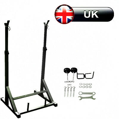 Heavy Duty Adjustable Gym Squat Barbell Power Rack Stand Press Weight Bench SY