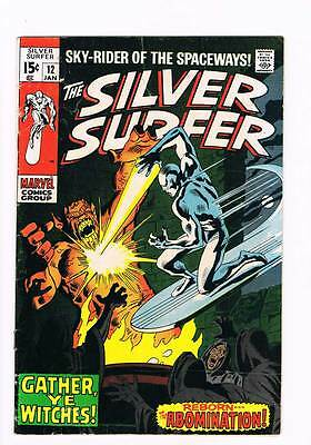 Silver Surfer # 12 Gather,Ye Witches ! Abomination  grade 5.0 scarce book !!