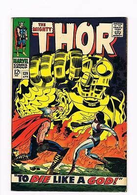 Thor # 139  To Die Like a God !  grade 8.0 scarce hot book !!