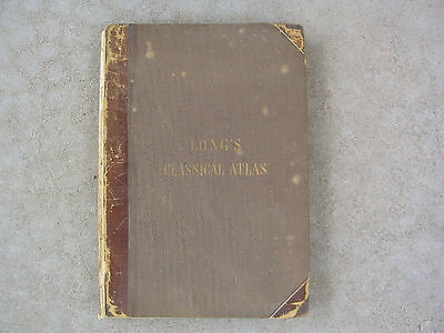 1859 Long's Atlas of Classical Geography 52 Maps and Plans on 26 Plates