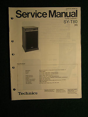 Technics Tone Cabinet SY-T80 Service Repair Shop Manual Wiring SY T 80