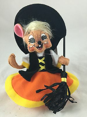 "ANNALEE 6"" HALLOWEEN CANDYCORN WITCH MOUSE- NEW with TAG - 2012  (3374)"