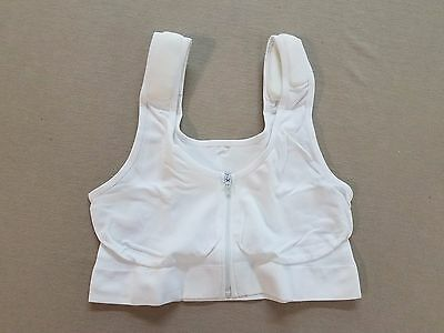 Dream Products Womens Perfect Posture Zip Front Bra White 81353 MM1 Size M 36-38
