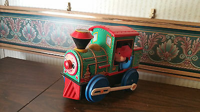 Vintage Disney Mechanical old Tin Litho rare Toy Train MICKEY MOUSE