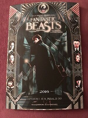 Fantastic Beasts And Where To Find Them A4 Cinema Poster JK Rowling