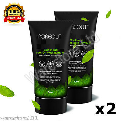 2 x 50ml Purifying Blackhead Remover Peel-Off Facial Cleansing Black Face Mask
