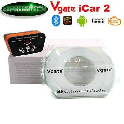 OBD2 OBDII Vgate iCar2 MINI ELM BLUETOOTH SCANNER PER ANDROID TORQUE E PC